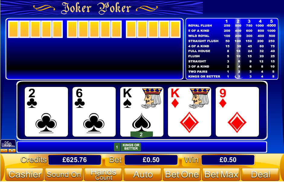 joker is the name poker is the game